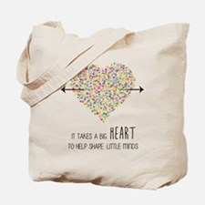 Funny Heart Tote Bag
