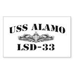 USS ALAMO Sticker (Rectangle)