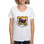 USS ALAMO Women's V-Neck T-Shirt