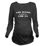 USS ALAMO Long Sleeve Maternity T-Shirt