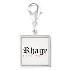 Rhage Silver Square Charm Charms