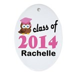 Class Of 2014 custom Ornament (Oval)