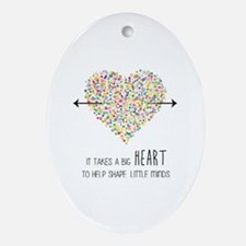 Cute Appreciation Oval Ornament