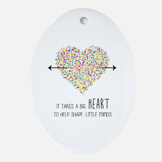 Cute Teacher appreciation Oval Ornament