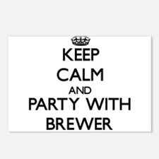 Keep calm and Party with Brewer Postcards (Package