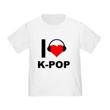 I Love K-Pop Korean Heart Headphones T-Shirt