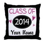 Personalized Class Of 2014 Throw Pillow