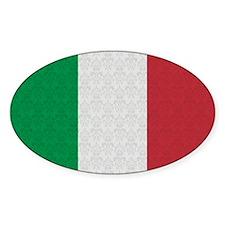 Italian Flag Damask Pattern Decal