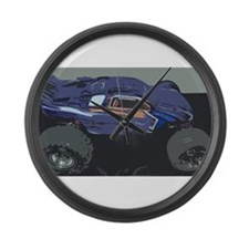 Race Car Large Wall Clock