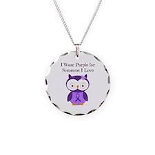 I Wear Purple Necklace