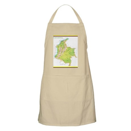 Colombia Green map Apron