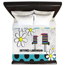 Retired Librarian birds King Duvet