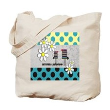 Retired Librarian birds Tote Bag
