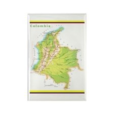 Colombia Green map Rectangle Magnet