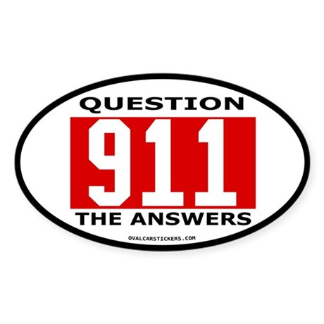 911 Question Sticker (Oval)