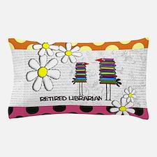 Retired librarian birds 2 Pillow Case