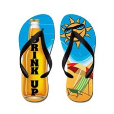 Drink Up Summer Beer Flip Flops