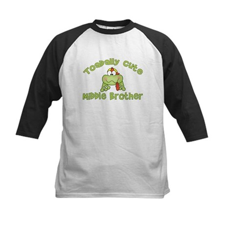 Toadally Cute Middle Brother Kids Baseball Jersey