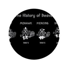 """History of Beavers 3.5"""" Button"""