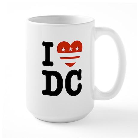 I Love DC Large Mug