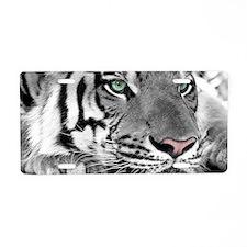 Lazy Tiger Aluminum License Plate