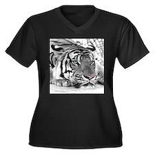 Lazy Tiger Plus Size T-Shirt