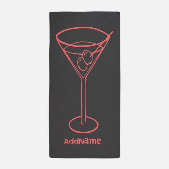Custom Cocktail Martini Glass Beach Towel