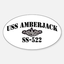 Cute Amberjack Sticker (Oval)