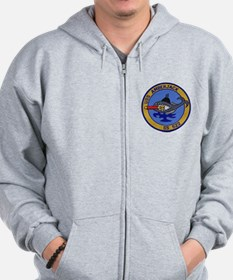 Funny Submarine dolphins Zip Hoodie