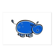 Bright Blue Hippo Postcards (Package of 8)