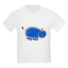 Bright Blue Hippo T-Shirt
