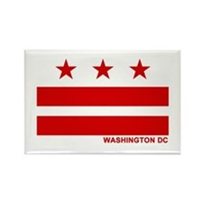 Washington DC Flag Rectangle Magnet