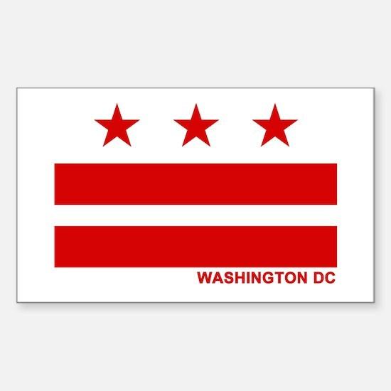 Washington DC Flag Rectangle Decal