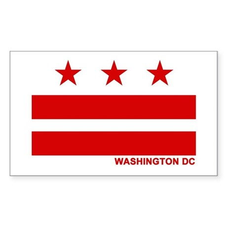 Washington DC Flag Rectangle Sticker