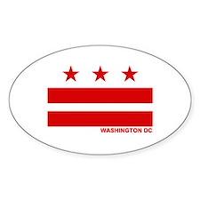 Washington DC Flag Oval Decal