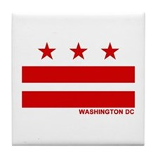 Washington DC Flag Tile Coaster