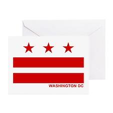 Washington DC Flag Greeting Cards (Pk of 10)