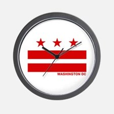 Washington DC Flag Wall Clock