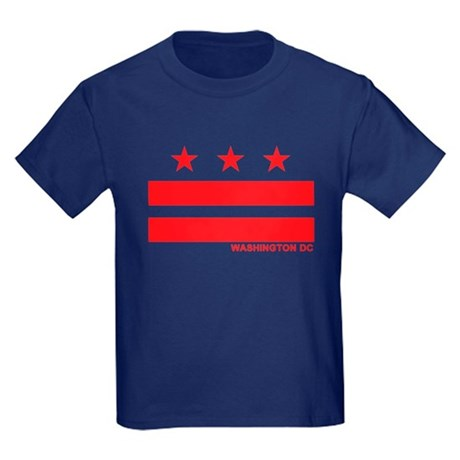 Washington DC Flag Kids Dark T-Shirt
