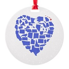 Hawaii Heart Ornament