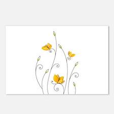 Paper Butterflies Postcards (Package of 8)
