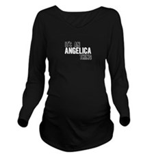 Its An Angelica Thing Long Sleeve Maternity T-Shir