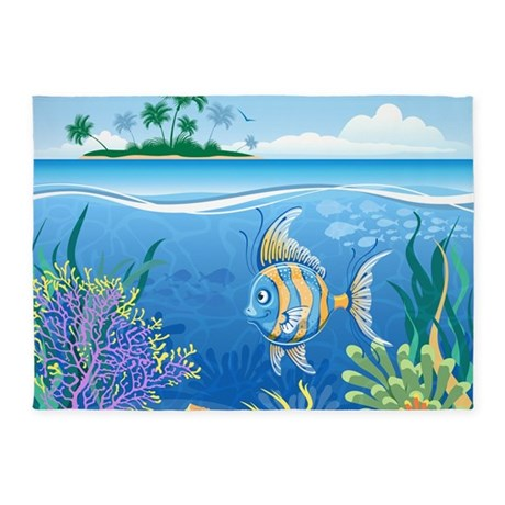 under the sea 5 39 x7 39 area rug by bestgear. Black Bedroom Furniture Sets. Home Design Ideas