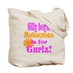 MotoXGurl in Pink Tote Bag