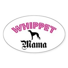 Whippet Mama Oval Decal