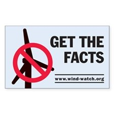 Get The Facts Sticker (rectangle)