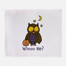 Whooo Me? Throw Blanket