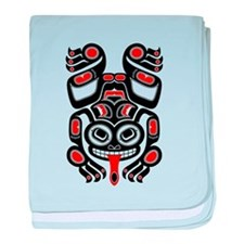 Red and Black Haida Tree Frog baby blanket