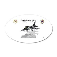 F-16C 18th AGRS w/reflection Wall Decal