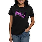 MotoXGurl in Pink Women's Dark T-Shirt